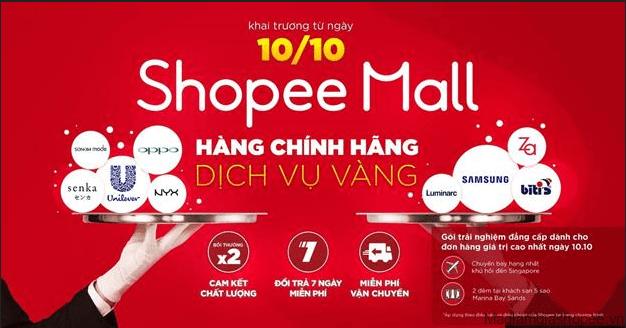 Shopee Mall là gian hàng chính hãng 100%