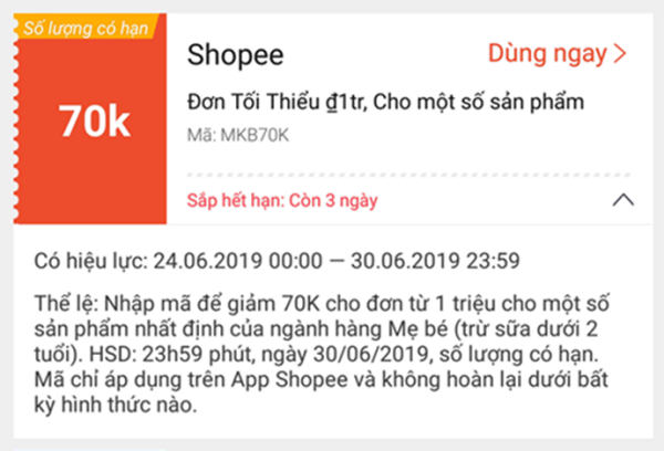 Hướng dẫn lưu mã voucher Shopee vào tài khoản