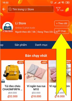 Hướng dẫn cách liên lạc với người bán hàng trên shopee