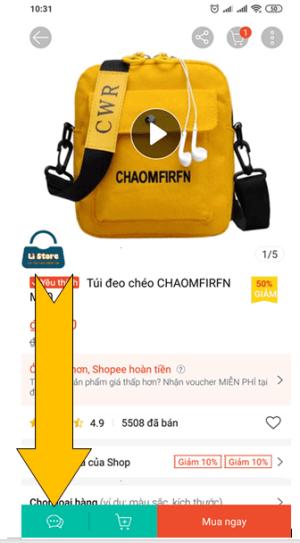 Cách nhắn tin với người bán trên shopee