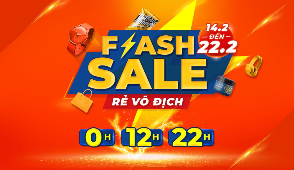 Shopee khuyến mãi Flash Sale Rẻ Vô Địch