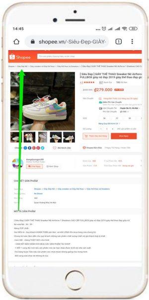 Kiểm tra sản phẩm Shopee thuộc ngành hàng nào bằng điện thoại