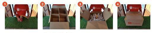 hướng dẫn gói hàng trên shopee