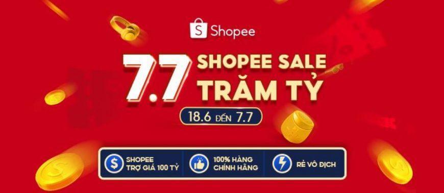 Chương trình khuyến mãi Shopee 7.7