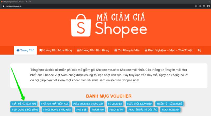 Mã giảm giá Shopee 10.10