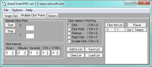 Hướng dẫn sử dụng Auto Click Pro 2.5 trên máy tính