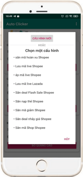 Hướng dẫn thiết lập auto click nhiều mục tiêu trên điện thoại