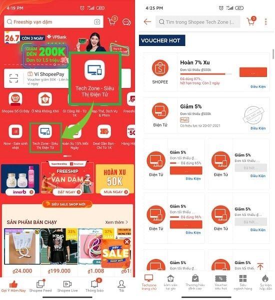 Mã giảm giá hàng điện tử Shopee