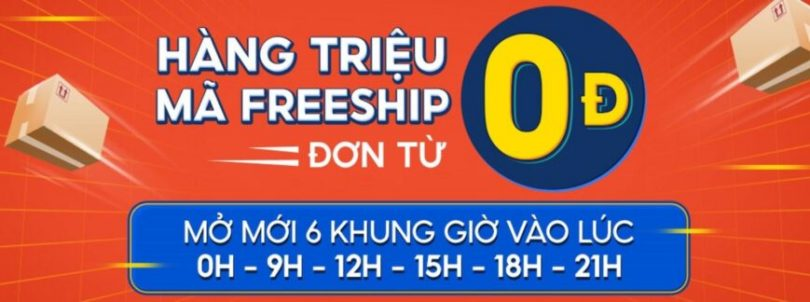 Shopee 26.7 mã freeship đơn 0đ