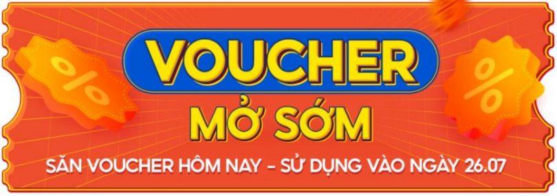 voucher mở sớm shopee 26.7